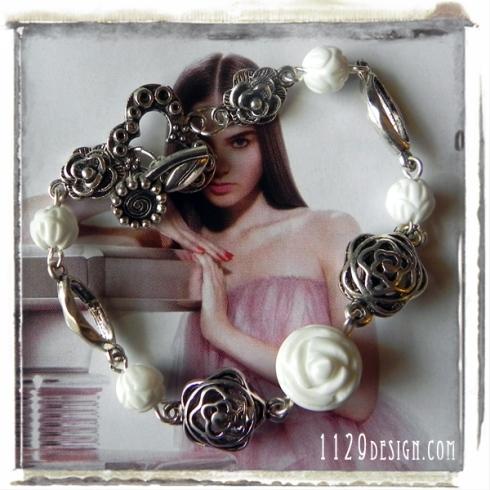 bracciale-turchese-bianco-rose