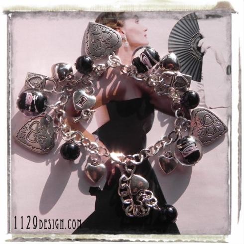 braccialetto ciondoli cuore san valentino amore innamorati charms