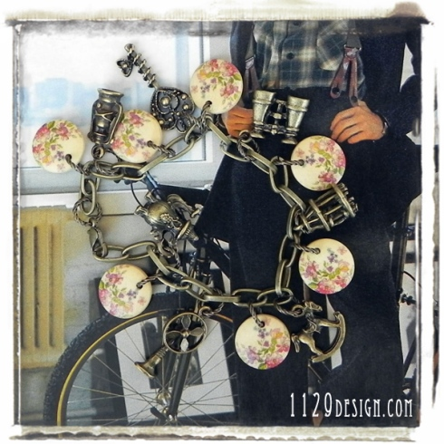 braccialetto-bronzo-charm-vintage-ciondoli-legno-bronze-charms-retro-fashion-handmade-bracelet-1129design
