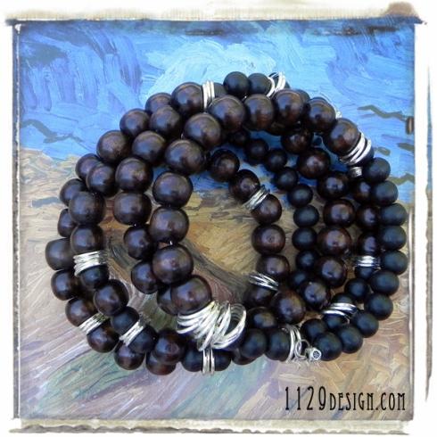 bracciale-legno-filo-armonico-memory-wire-wood-silver-bracelet-1129design