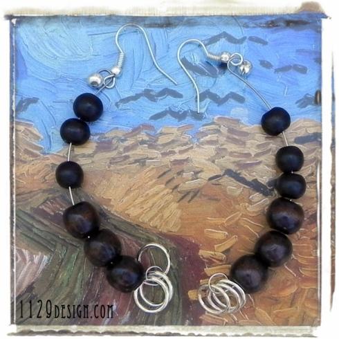 orecchini-legno-filo-armonico-memory-wire-wood-silver-earrings-1129design