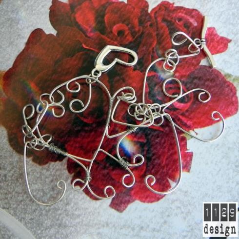 valentina braccialetto cuori matrimonio sposa hearts bride bracelet 1129design